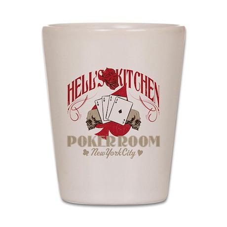 Hell's Kitchen Poker Shot Glass