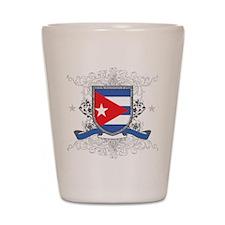 Cuban Shield Shot Glass