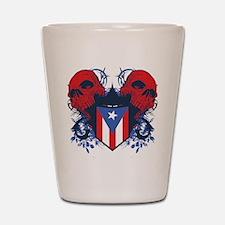 Puerto Rico Skulls Shot Glass