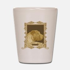 Shar Pei Dog Stamp Shot Glass