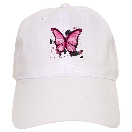 Pink Butterfly Cap