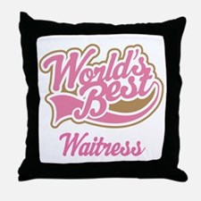 Waitress Gift Throw Pillow