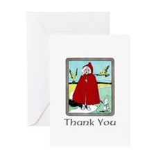 Red Riding Hood Thank You Greeting Card
