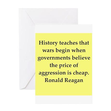 Ronald Reagan quote Greeting Card