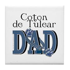 Coton de Tulear DAD Tile Coaster