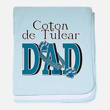 Coton de Tulear DAD baby blanket