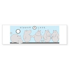 hippos r love bumper stickers