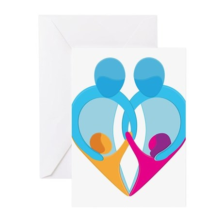 TWO DADS Greeting Cards (Pk of 10)