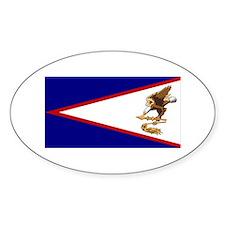 Flag of American Samoa Oval Decal