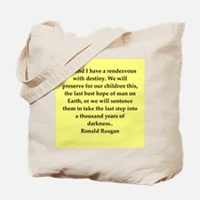 Ronald Reagan quote Tote Bag