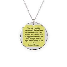 Ronald Reagan quote Necklace Circle Charm