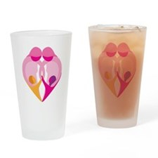 TWO MOMS Drinking Glass