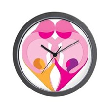 TWO MOMS Wall Clock
