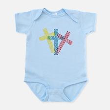 3 Christian Crosses Infant Bodysuit