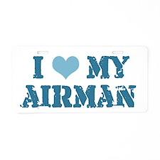 I ♥ my Airman Aluminum License Plate