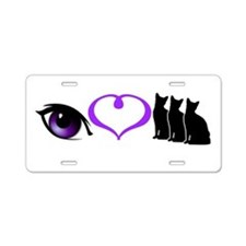 I love cats! Aluminum License Plate