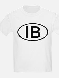 IB - Initial Oval Kids T-Shirt