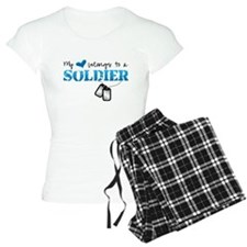 My heart belongs to a Soldier Pajamas