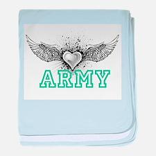 ARMY + wings baby blanket