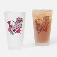 Heart & Roses Drinking Glass