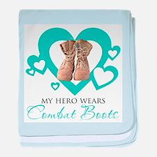 My hero wears combat boots - baby blanket