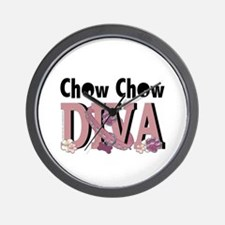 Chow Chow DIVA Wall Clock