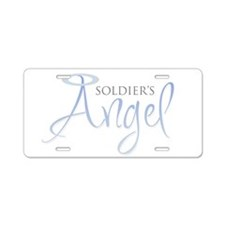 Soldier's Angel Aluminum License Plate