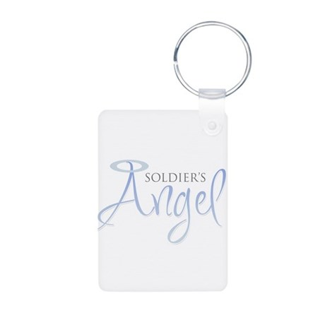 Soldier's Angel Aluminum Photo Keychain