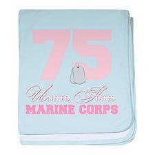Marine Corps - 75 baby blanket