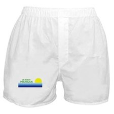 Funny Up north michigan Boxer Shorts