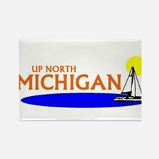 Up north michigan Rectangle Magnet