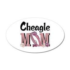 Cheagle MOM 22x14 Oval Wall Peel