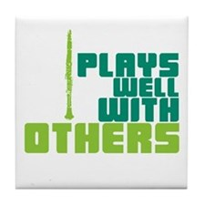Clarinet (Plays Well With Others) Tile Coaster