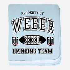 Weber German Drinking Team baby blanket
