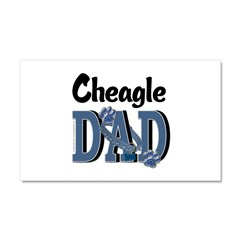 Cheagle DAD Car Magnet 20 x 12