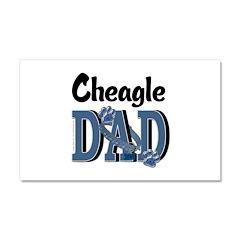 Cheagle DAD Car Magnet 20 x 12