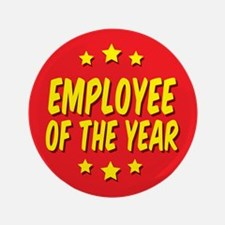 """Employee of the Year 3.5"""" Button"""
