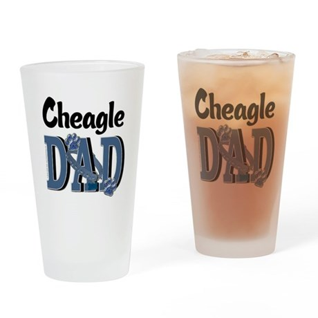 Cheagle DAD Drinking Glass