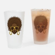 Afro Cool Drinking Glass