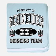 Schneider German Drinking Team baby blanket