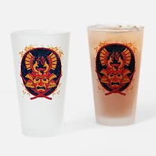 Samurai Stamp Drinking Glass