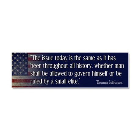 Jefferson Quote ELITE Car Magnet 10 x 3