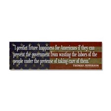 Jefferson Quote Happiness Car Magnet 10 x 3