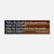 Jefferson Liberty Tyranny Quote Car Magnet 10 x 3