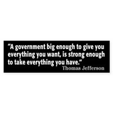 Thomas Jefferson Quote Car Sticker