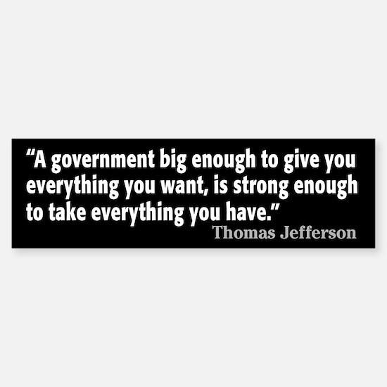 Thomas Jefferson Quote Sticker (Bumper)
