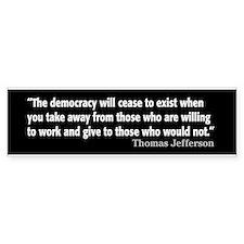 Thomas Jefferson Quote Car Car Sticker