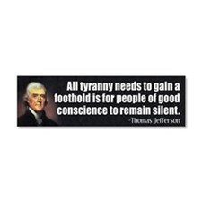 Thomas Jefferson Quote Car Magnet 10 x 3