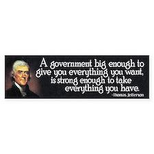 Thomas Jefferson Quote Car Sticker