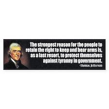 Thomas Jefferson Quote Bumper Bumper Sticker